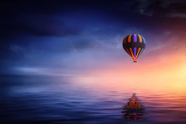 Hot Air Balloon Lake - Free photo on Pixabay (181034)