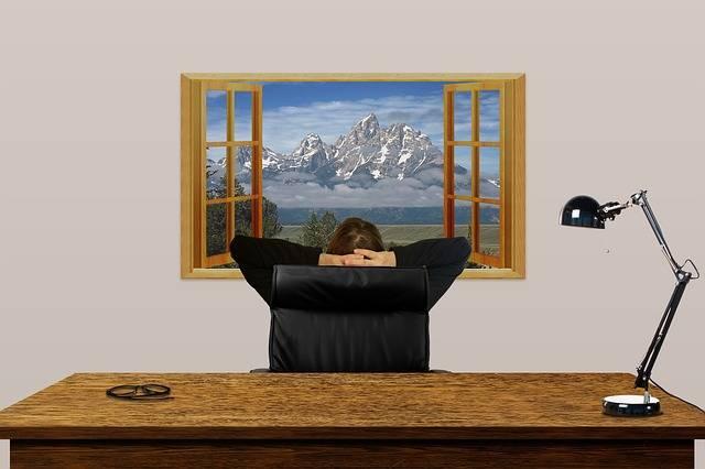 Desk Office Window - Free image on Pixabay (185541)