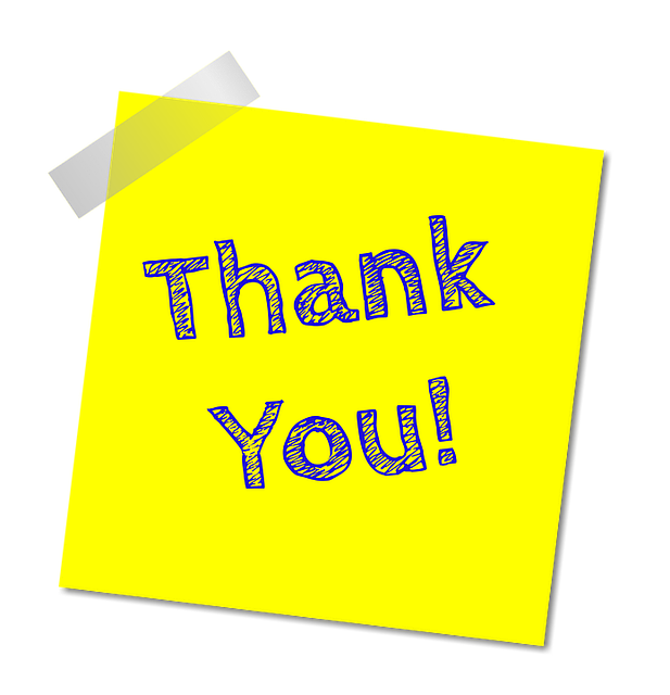 Thank You Note - Free image on Pixabay (198923)