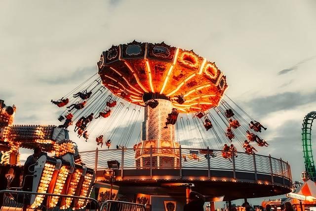 Rides Amusement Park Sky - Free photo on Pixabay (199029)
