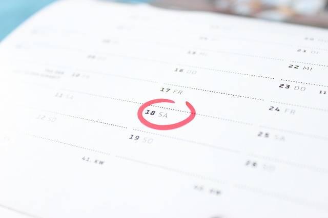Time Calendar Saturday - Free photo on Pixabay (199035)