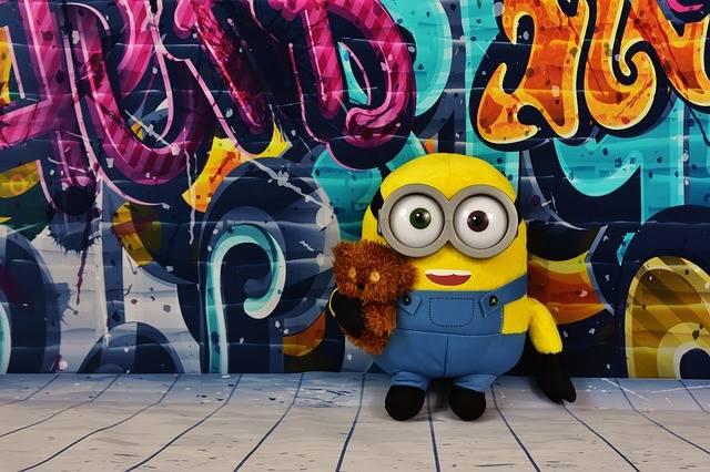 Graffiti Colorful Minion - Free photo on Pixabay (199203)