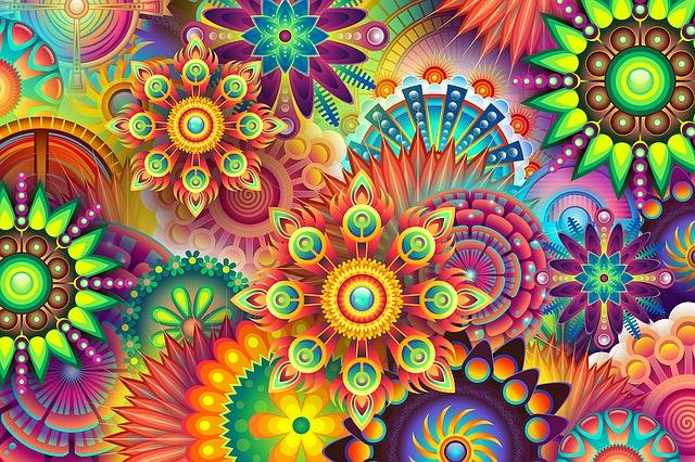 Psychedelic Colorful Colors - Free image on Pixabay (201050)