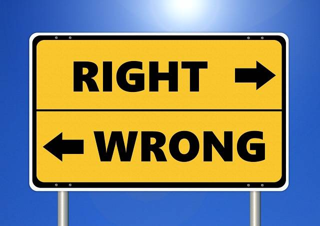 Ethics Right Wrong - Free photo on Pixabay (204487)