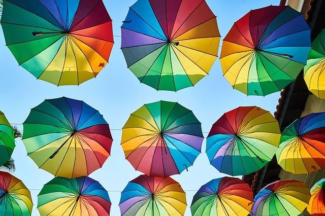 Umbrella Street Colorful - Free photo on Pixabay (206061)