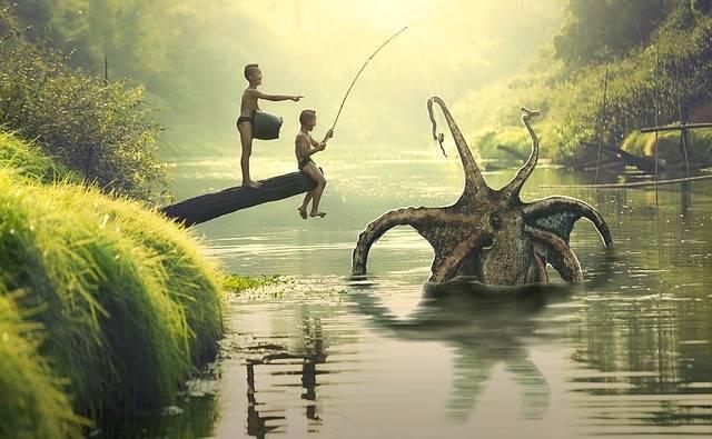Fish Children Boys - Free photo on Pixabay (208879)