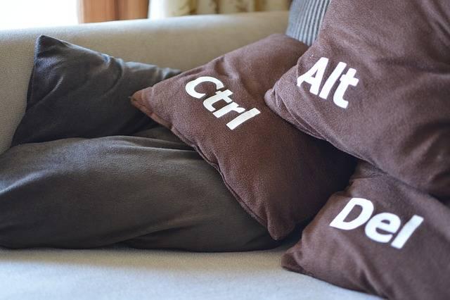 Restart Cushions Funny - Free photo on Pixabay (214679)