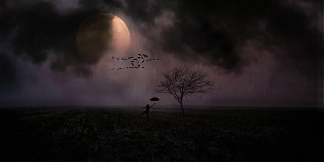 Moonlight Woman Rain - Free photo on Pixabay (220003)