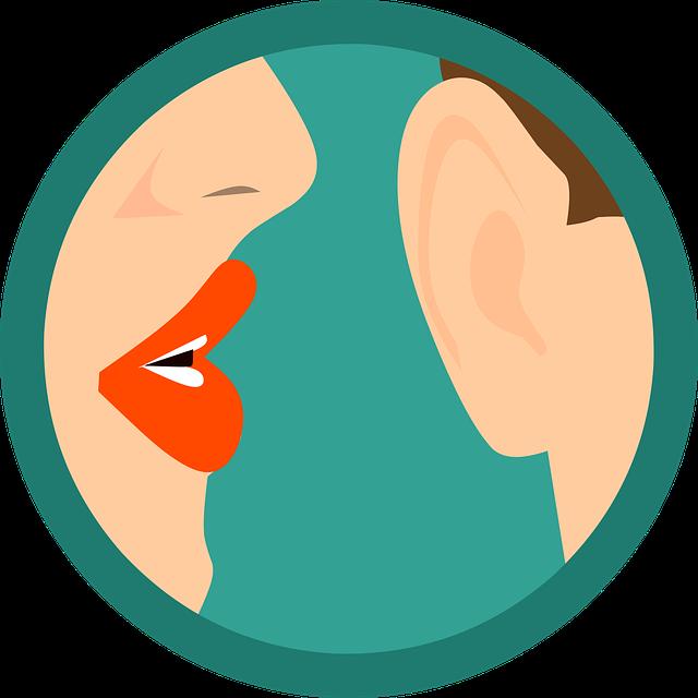 Secret Whispering Ear - Free vector graphic on Pixabay (238797)