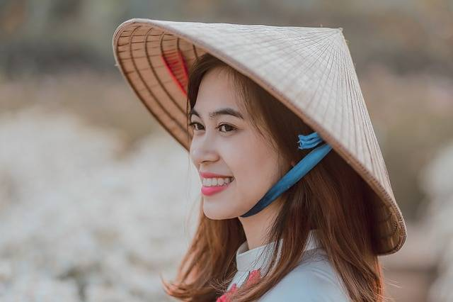 Vietnamese Girl Conical Hat - Free photo on Pixabay (248627)
