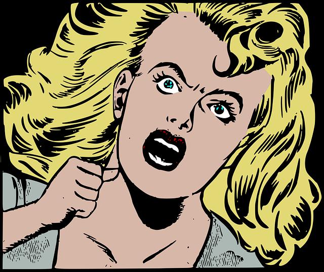 Horror Retro Scream - Free vector graphic on Pixabay (260294)