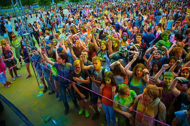 The Festival Of Colors Holi Moscow - Free photo on Pixabay (270263)