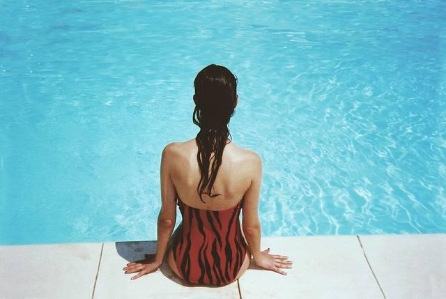 Woman Sitting Poolside - Free photo on Pixabay (301704)