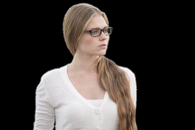 Specs Girl White - Free photo on Pixabay (307883)