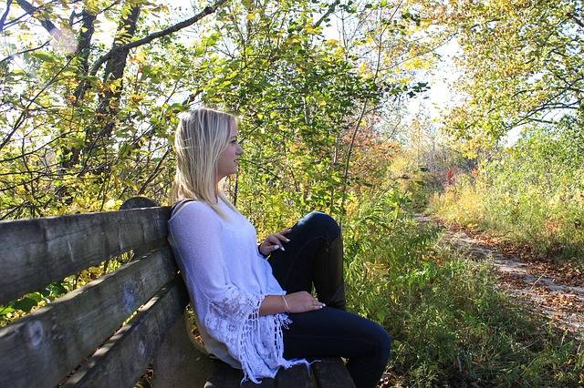 Woman Thinking Bench - Free photo on Pixabay (312718)