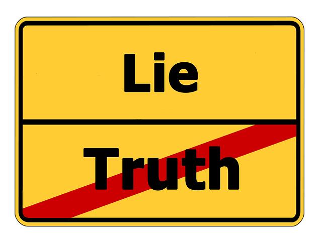 Truth Lie Street Sign - Free image on Pixabay (316647)