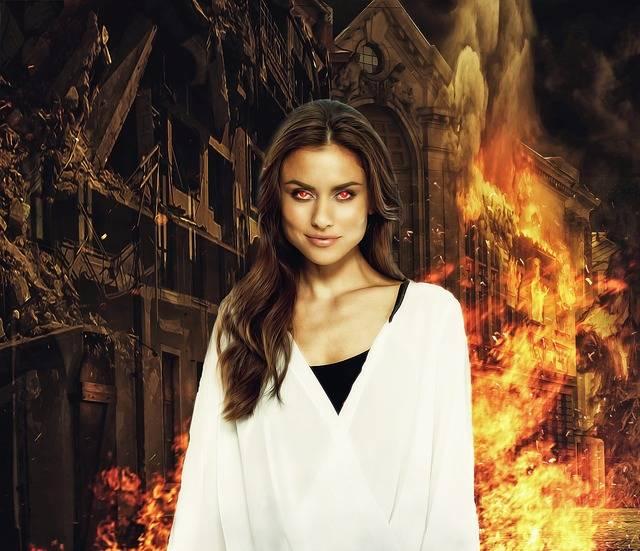 Fantasy Woman Fire Eyes Female - Free image on Pixabay (317928)