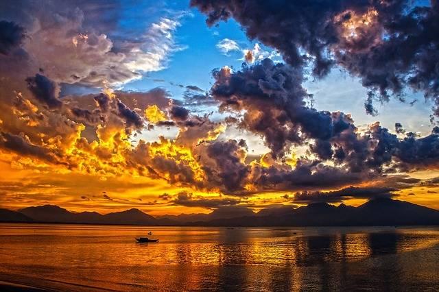 Boat Sundown Sunset - Free photo on Pixabay (319232)
