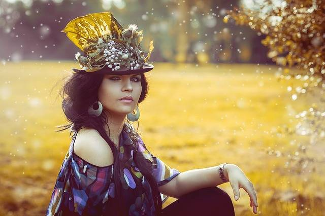 Beauty Woman Flowered Hat - Free photo on Pixabay (322217)