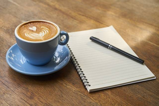 Coffee Pen Notebook - Free photo on Pixabay (324727)