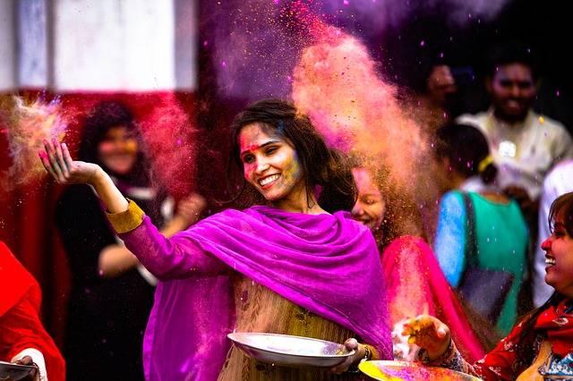 Holi Girl Indian - Free photo on Pixabay (325557)