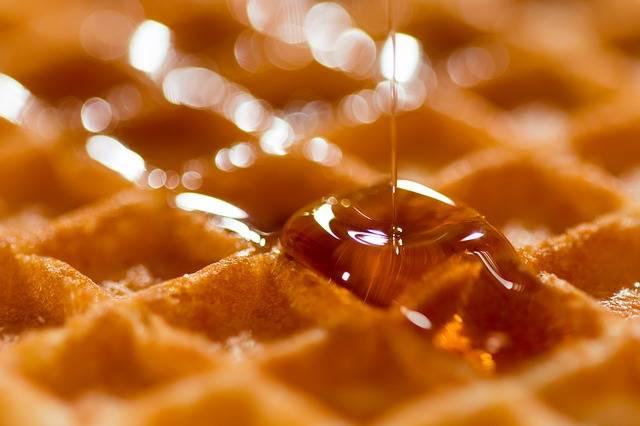Waffle Belgian Syrup - Free photo on Pixabay (329888)