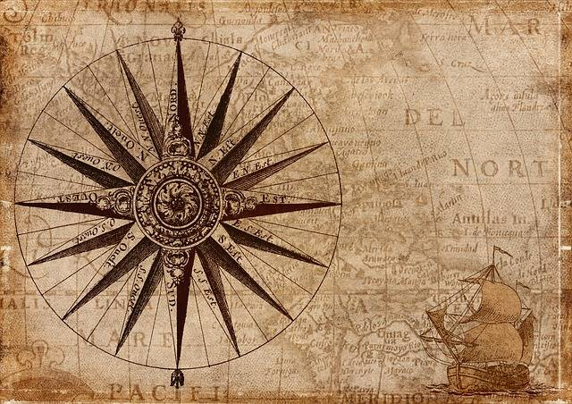 Compass Map Nautical - Free image on Pixabay (332086)