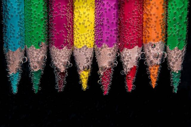 Beaded Colour Pencils Underwater - Free photo on Pixabay (332719)