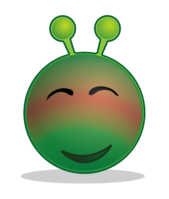 Alien Smiley Blushing - Free vector graphic on Pixabay (334681)