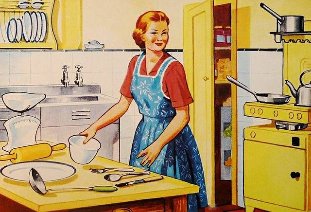 Retro Housewife Family - Free image on Pixabay (340359)