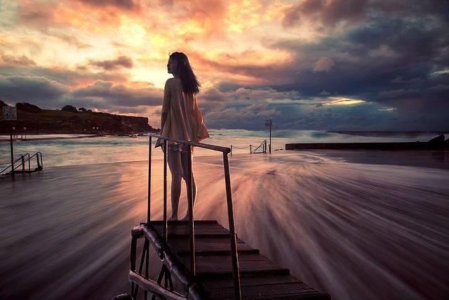 Girls Beach Sunset - Free photo on Pixabay (341879)