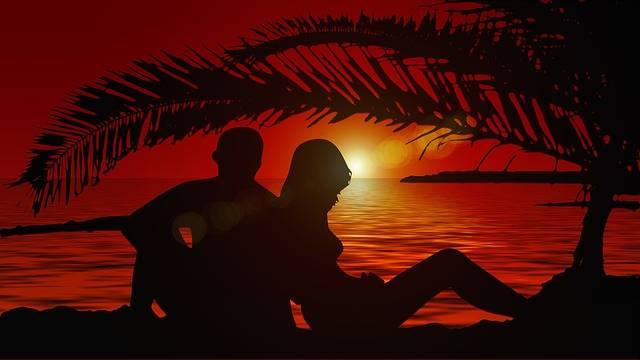 Lovers Silhouette Pair - Free image on Pixabay (351325)