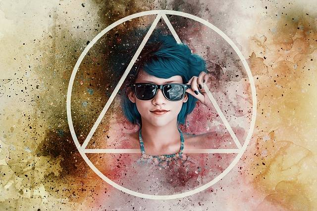 Sunglasses Triangle Circle Paint - Free image on Pixabay (351803)