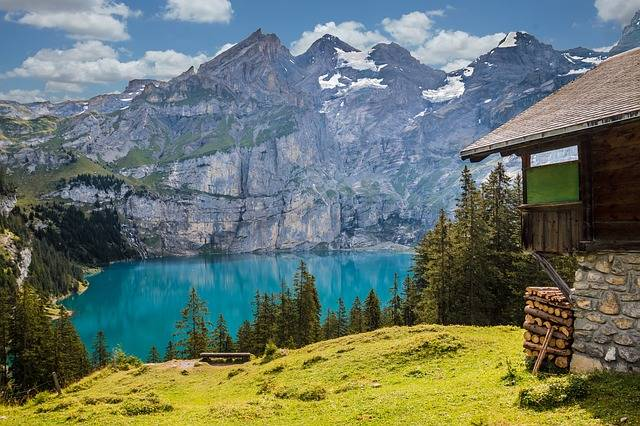 Hut Lake Oeschinen Bergsee - Free photo on Pixabay (352025)