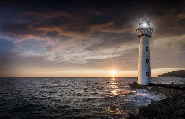 Lighthouse Glow Evening - Free photo on Pixabay (353177)
