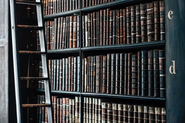 Bookshelf Old Library - Free photo on Pixabay (357648)