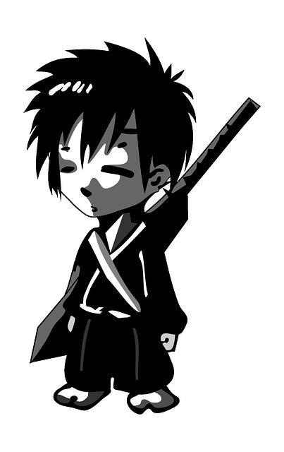 Samurai Boy Child - Free vector graphic on Pixabay (365089)