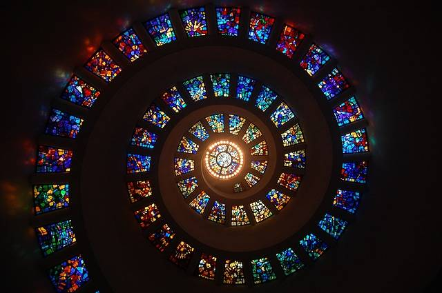 Stained Glass Spiral Circle - Free photo on Pixabay (376016)