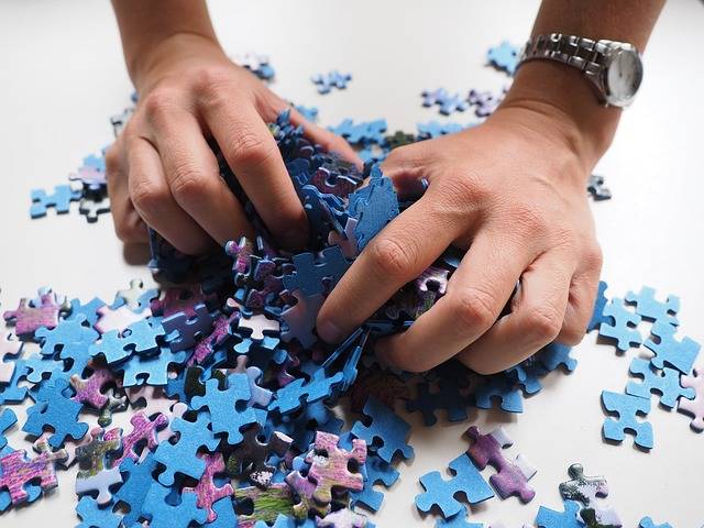 Pieces Of The Puzzle Mix Hands - Free photo on Pixabay (384663)