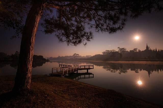 Lake Sunset Dawn The - Free photo on Pixabay (387958)