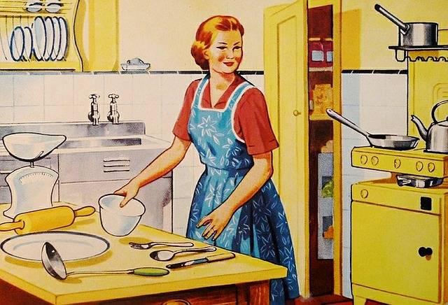 Retro Housewife Family - Free image on Pixabay (391576)