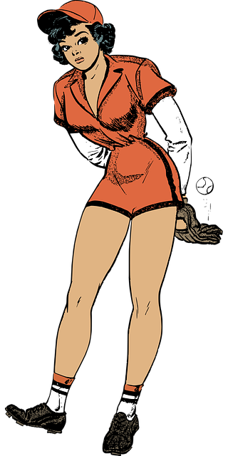 Baseball Female Pinup - Free vector graphic on Pixabay (396856)
