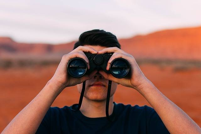 Binoculars Looking Man - Free photo on Pixabay (397357)