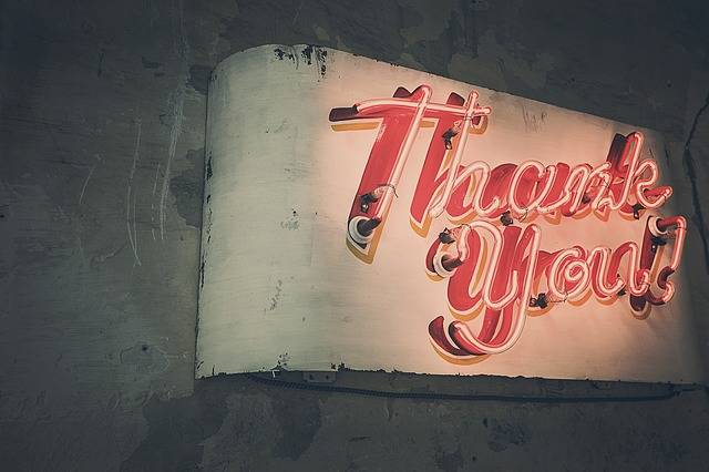Thank You Neon Lights - Free photo on Pixabay (403466)