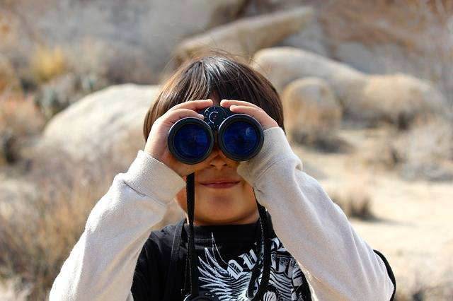 Binoculars Child Magnification - Free photo on Pixabay (405157)