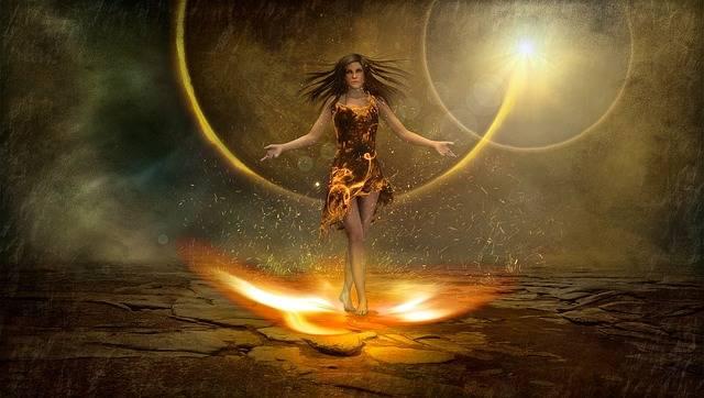 Fantasy Fire Figure - Free image on Pixabay (405158)