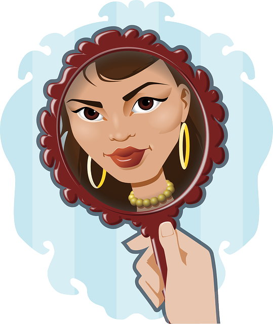 Face Mirror Woman - Free vector graphic on Pixabay (406019)