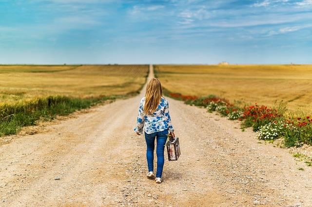 Suitcase Girl Leaving - Free photo on Pixabay (406510)