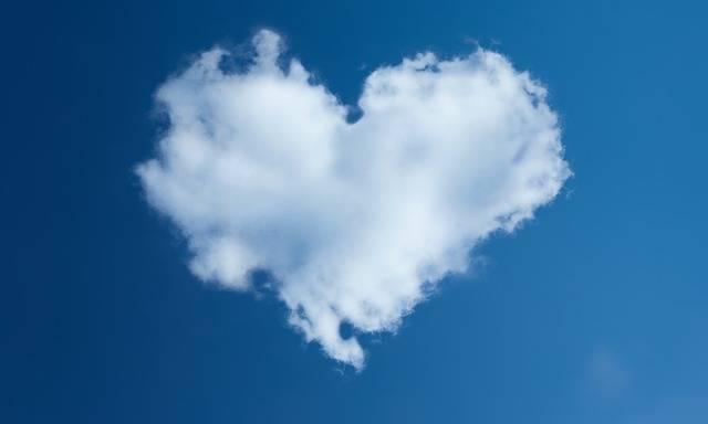 Heart Sky Dahl Blue - Free photo on Pixabay (406754)
