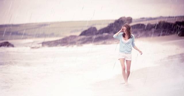 Rain Enjoy Beach - Free photo on Pixabay (406786)
